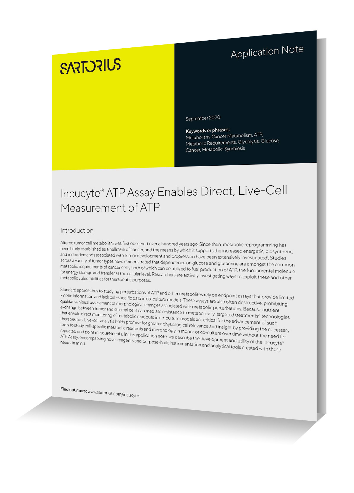 Application Note: ATP Assay Enables Direct, Live-Cell Measurement of ATP