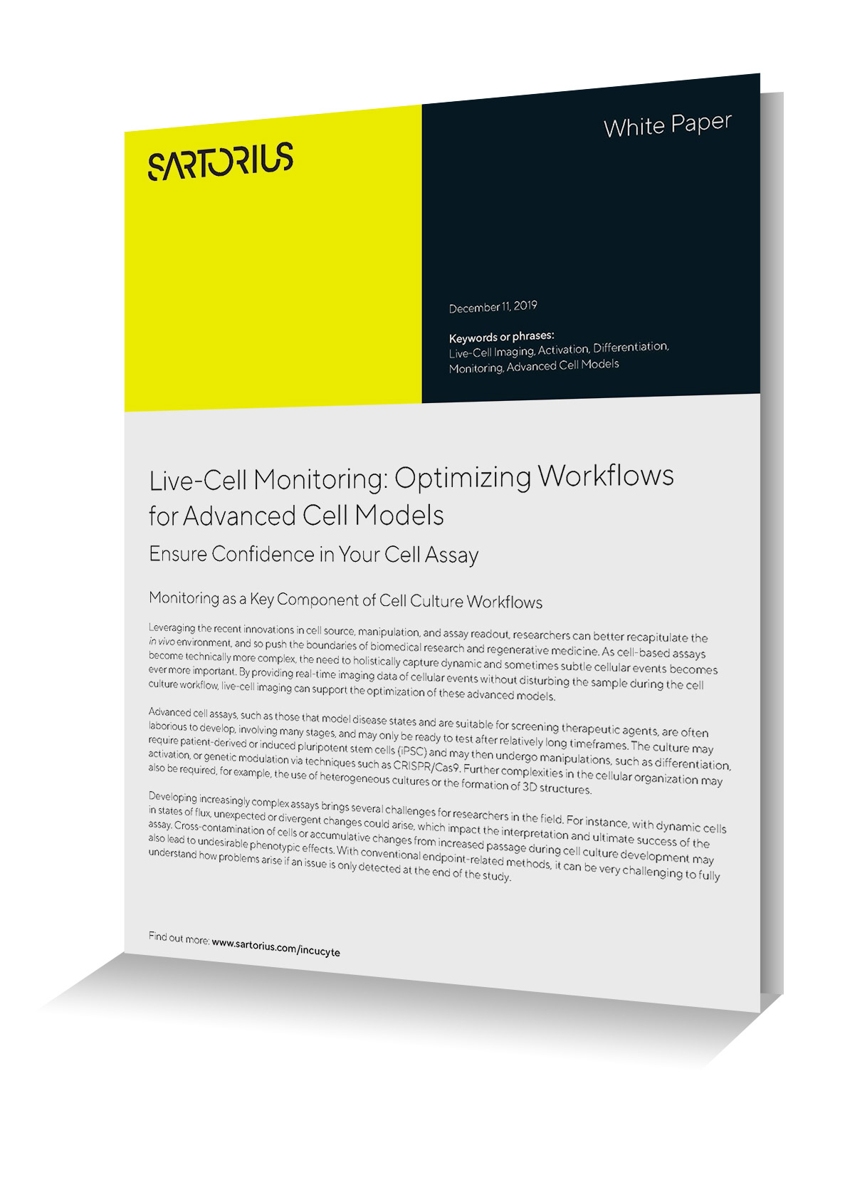 White Paper - Live-cell monitoring - optimizing workflow advanced cell monitoring Image
