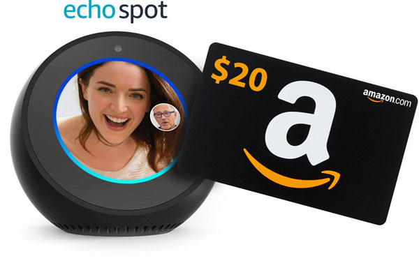 Echo Spot and Amazon Gift Card
