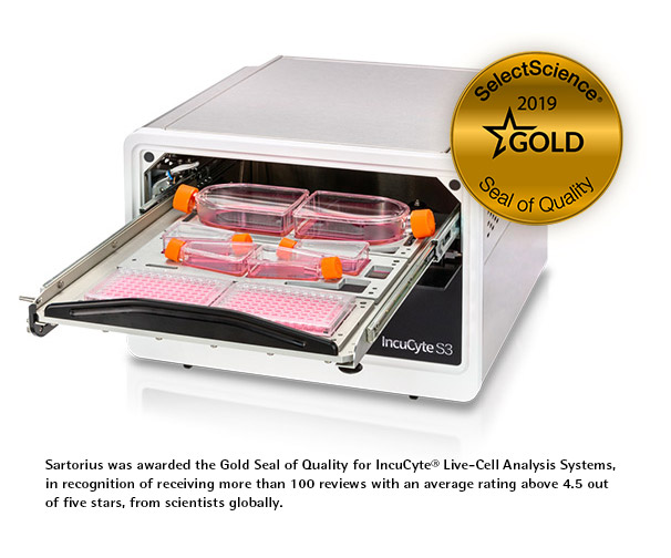 Select Science Seal of Quality IncuCyte S3