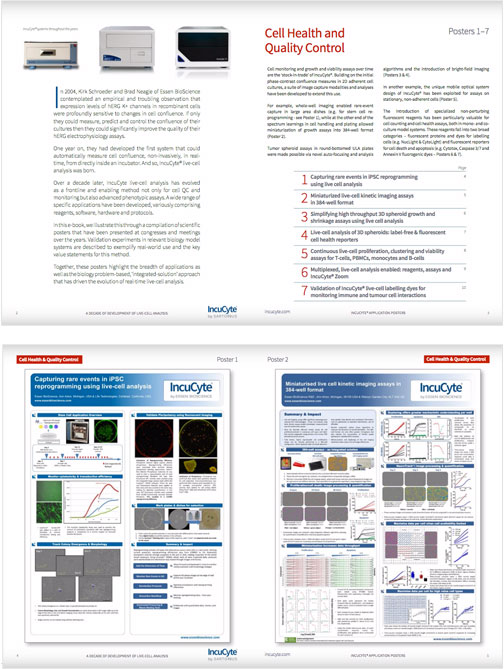 incucyte applications posters showcase