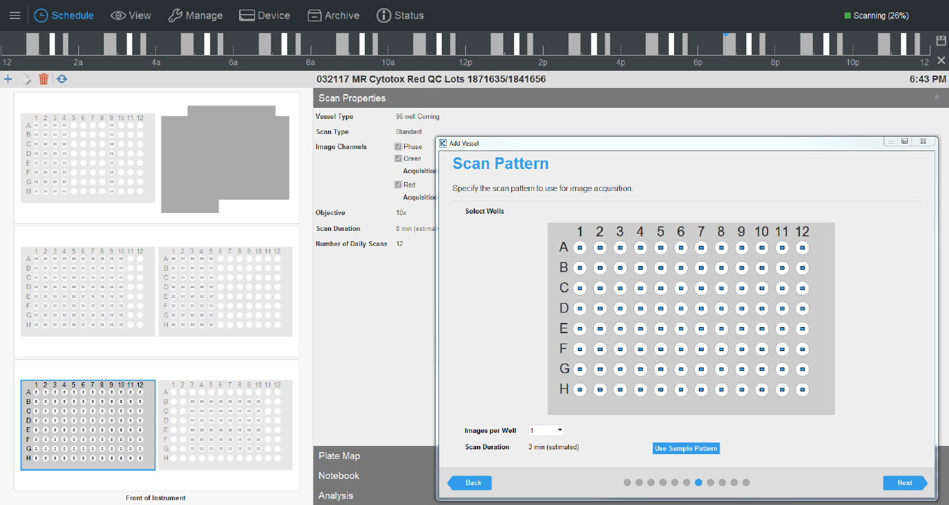 Interface guides users through experimental set up