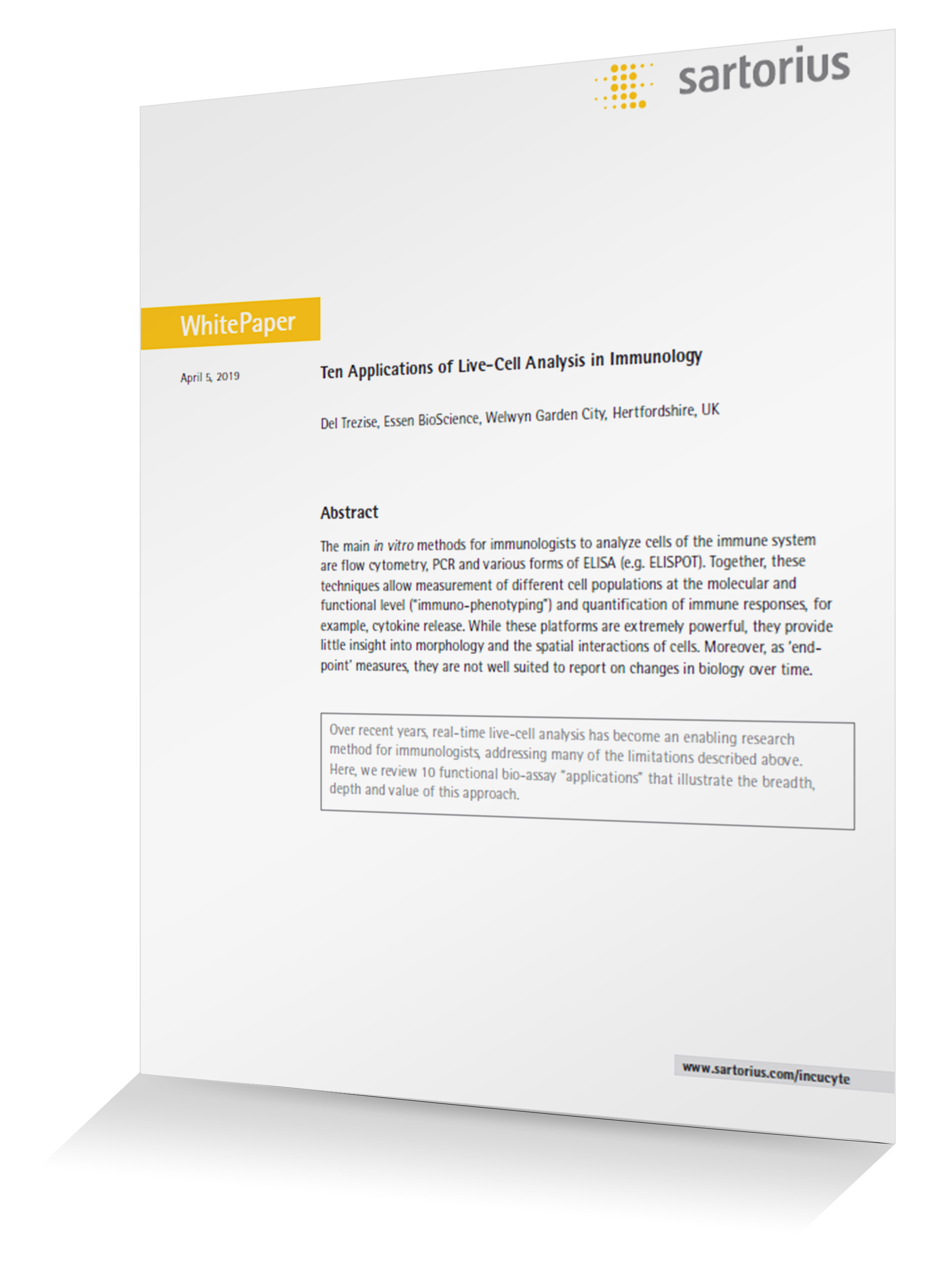 immunology white paper email