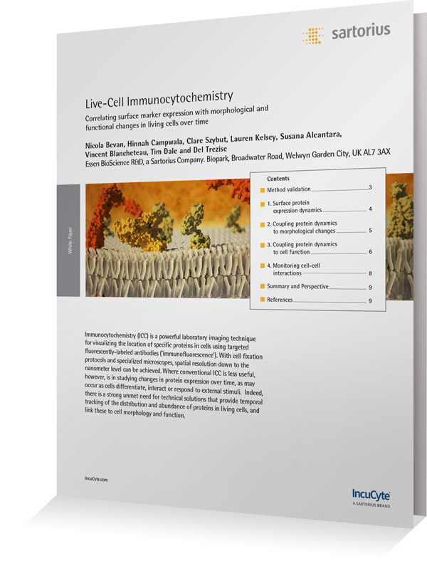 White Paper Cover Live-cell Immunocytochemistry